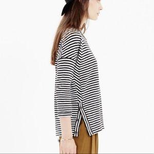 Madewell Button Side Sweatshirt Striped Women's M